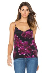 Equipment Layla Floral Print Cami Purple