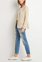 Forever 21 Single Button Knit Blazer Khaki