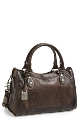 Frye 'Melissa' Washed Leather Satchel Grey Slate