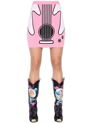 Jeremy Scott Guitar Jacquard Rayon Knit Mini Skirt