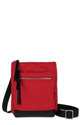 Lodis 'Zora' Nylon And Leather Crossbody Bag Red
