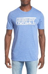 Hurley Men's Logo Graphic T Shirt Heather Sport Blue