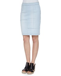 Frame Le High Waist Patchwork Pencil Skirt Doheny