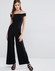 Love Off Shoulder Jumpsuit Black