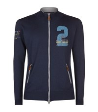 La Martina Polo Match Embroidered Knit Jacket Male Navy