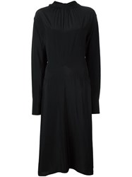 Marni Ruffle Collar Midi Dress Black