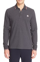 Men's Moncler Tipped Long Sleeve Polo