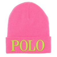 Polo Ralph Lauren Knit Hat Shocking Pink