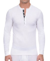2Xist 2 X Ist Men's Tartan Placket Tech Henley Shirt Winter White