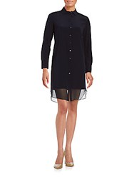 Magaschoni Georgetter Shirtdress Midnight