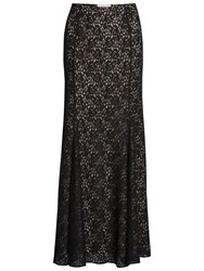 Gina Bacconi Lace Fishtail Maxi Skirt Black