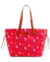 Dooney And Bourke St. Louis Cardinals Nylon Shopper Tote Red