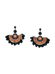 Gas Bijoux 'Gaia' Feather Earrings Black