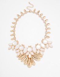 Warehouse Statement Collar Necklace Goldcream