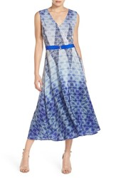 Charlie Jade Women's Print Silk Midi Dress