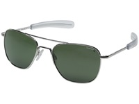 Randolph Aviator 55Mm Polarized White Gold Agx Polarized Fashion Sunglasses