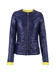 Morgan Quilted Shiny Look Jacket Navy