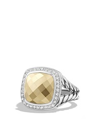 David Yurman Albion Ring With Gold Dome And Diamonds With 18K Gold Gold Silver