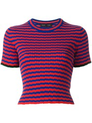 Proenza Schouler Striped Knit Top Red
