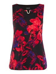 Episode Sleeveless Top With V Hardwear Graphic Floral Print