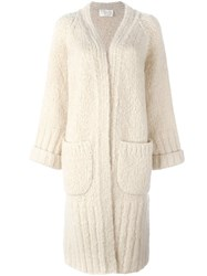 Chloe Oversized Cardigan Coat Nude And Neutrals