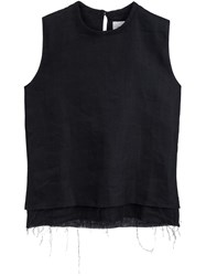 Simon Miller Back Keyhole Tank Top Black