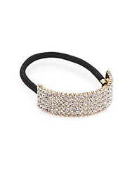 Saks Fifth Avenue Pave Ponytail Holder Goldtone