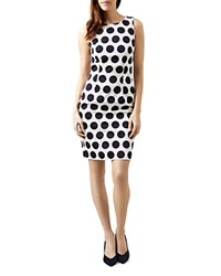 Hobbs London Regan Polka Dot Dress Ivory Navy