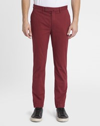 Hackett Red Kensington Stretch Slim Chinos