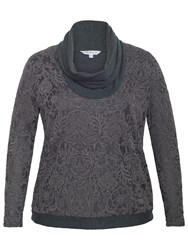 Chesca Baroque Cowl Neck Top Charcoal
