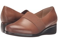 Trotters Marley Cognac Tumbled Leather Women's Slip On Shoes Brown