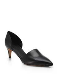 Vince Aurelian Leather D'orsay Pumps Cappuccino Black