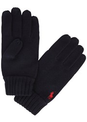 Polo Ralph Lauren Navy Merino Wool Gloves