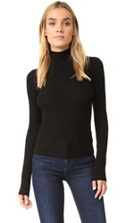 Getting Back To Square One The Turtleneck With Leather Patches Black