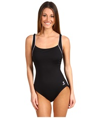 Tyr Solid Square Neck Tank Suit Black Women's Swimsuits One Piece
