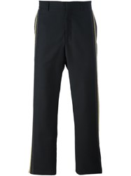 Ports 1961 Vertical Stripe Trousers Black