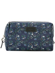 Paul Smith Floral Print Wash Bag Blue