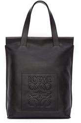 Loewe Black Leather Shopper Tote