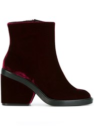 Robert Clergerie 'Babe' Boots Red