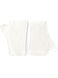 Helen Lawrence Fingerless Gloves White