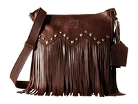 Sts Ranchwear The Boho Crossbody Dark Brown Cross Body Handbags