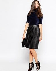 Pieces Pleated Skirt Black
