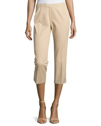 Neiman Marcus Cropped Bi Stretch Pants Buff