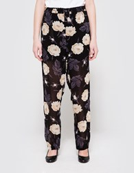 Ganni Allen Georgette Pants Ivory Rose