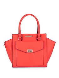 Catherine Malandrino Paige Faux Leather Satchel Tangerine