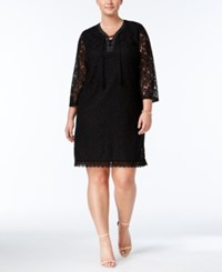 Styleandco. Style Co. Plus Size Lace Peasant Dress Only At Macy's Deep Black