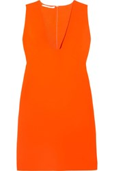 Stella Mccartney Stretch Cady Mini Dress Orange