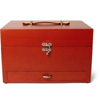 Turms Complete Shoe Care Kit With Wood Case Claret