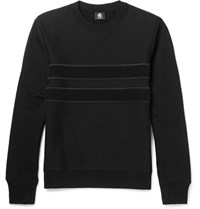 Paul Smith Ps By Panelled Loopback Organic Cotton Sweatshirt Black