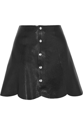 Saint Laurent Scalloped Leather Mini Skirt